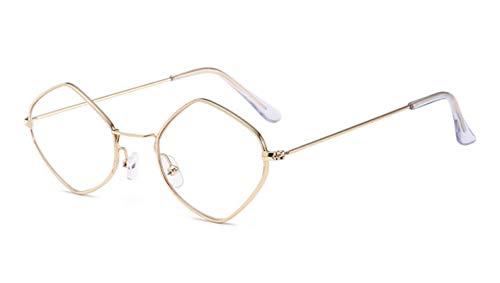 Gafas de Sol Sunglasses Moda Wrap Gafas De Sol Mujer Diseñador Retro Rose Gold Hombres Gafas De Sol Transparente Mujer Uv400 C3