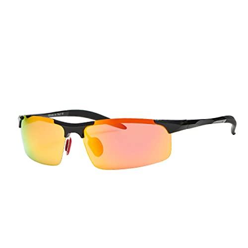 Gafas De Sol Gafas De Sol para Hombre, Gafas De Sol Deportivas Polarizadas para Hombre, Gafas De Montura Cuadrada Vintage Uv400 Multi