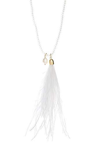 LIZAS Halskette Golden Pearls 88cm Gold White
