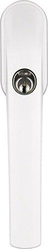 ABUS Abschließbarer Fenstergriff FG300 AL0145 - Fensterknauf mit Druckzylinder, gleichschließend - Sicherheitslevel 5 - 37380 - weiß