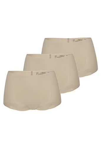 Lovable Invisible Comfort Micro Slip, Beige (Skin 038), 2 IT (Taglia Produttore: S) (Pacco da 3) Donna