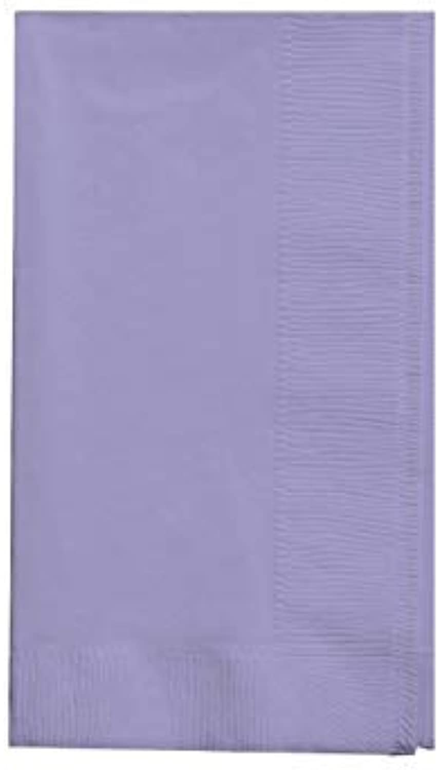7.5\ x 4.25\, Dinner Napkin, Lavender   Creative Congreening Touch of color 2Ply 50 Count Paper Dinner Napkins, Luscious Lavender