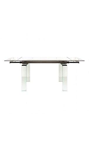 CAMINO A CASA - Table à rallonges en Verre Urban Cristal 140-200 cm
