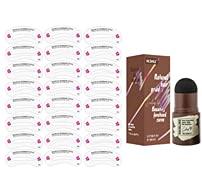 29 piezas Sello de cejas Hyacinthy plantilla de cejas, tatuaje de cejas en polvo para cejas, sello de cejas, color de cejas, sello de levantamiento de cejas, juego de modelado de cejas (marrón claro)