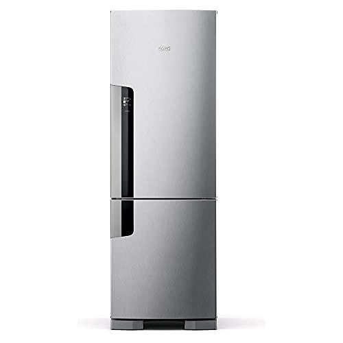 Geladeira Consul Frost Free Duplex 397 litros Evox com freezer embaixo - CRE44AK 110V