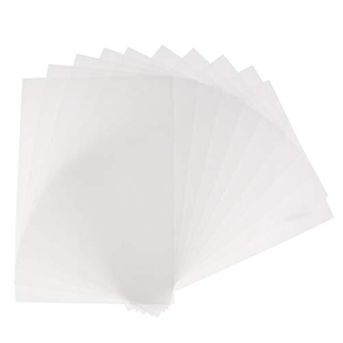 Tenlacum Schrumpffolie für Tintenstrahldrucker, Kunststoff, Papier, DIY Schmuck, Bastelarbeiten, transparent, 20 Stück