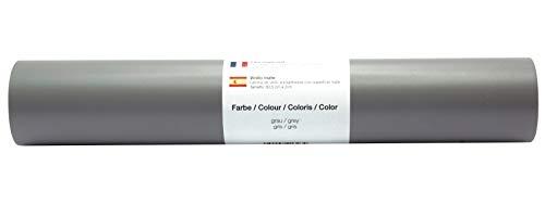 Vinyl Folie selbstklebend 3m versch. Farben Folie Grau-Matt