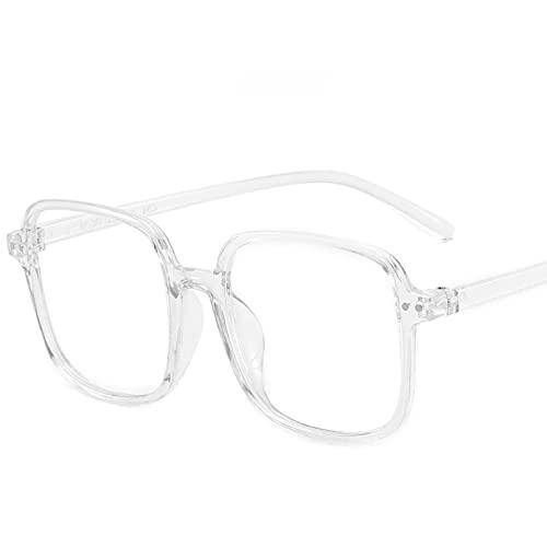 YTYASO Gafas de Moda para Hombres y Mujeres, Montura de Mujer, Montura de Gran tamaño, escuadra para Hombres, anteojos ópticos para Lectura de computadora