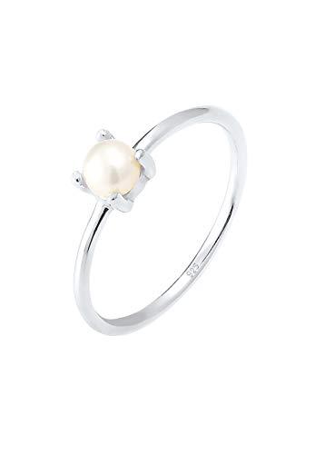 Elli Ring Süsswasserperle Filigran 925 Sterling Silber