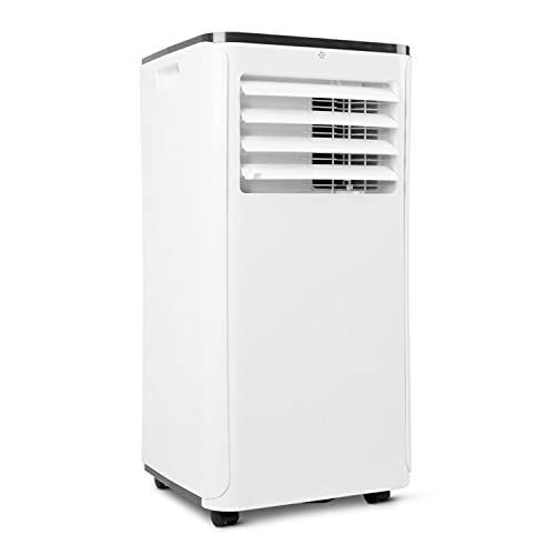 Climatiseur mobile MEDION avec tuyau d'évacuation (silencieux, climatiseur, ventilation et déshumidification, filtre à poussière, 9000 BTU, fonction minuterie 24h)