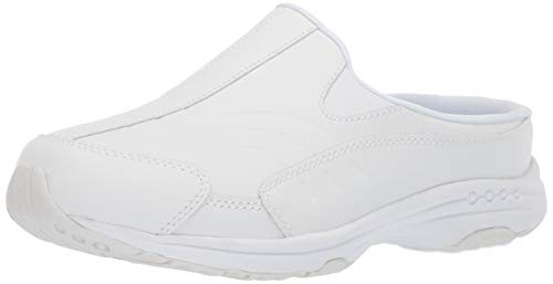 Easy Spirit Women's TOURGUIDE Mule, White Leather, 8 W US