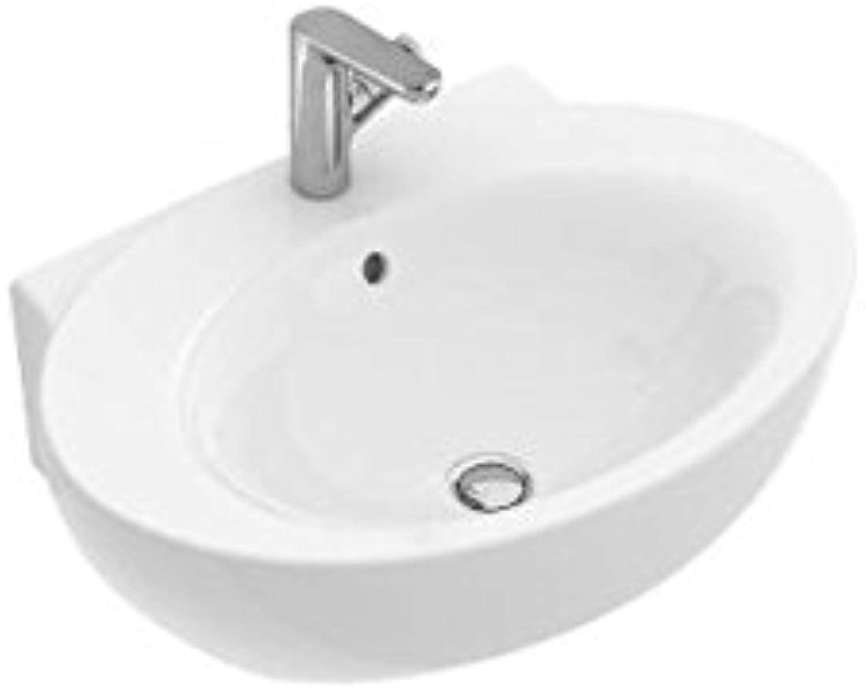 Villeroy & Boch AVEO NEW GENERATION Handwaschbecken ohne berlauf star Weiß activecare