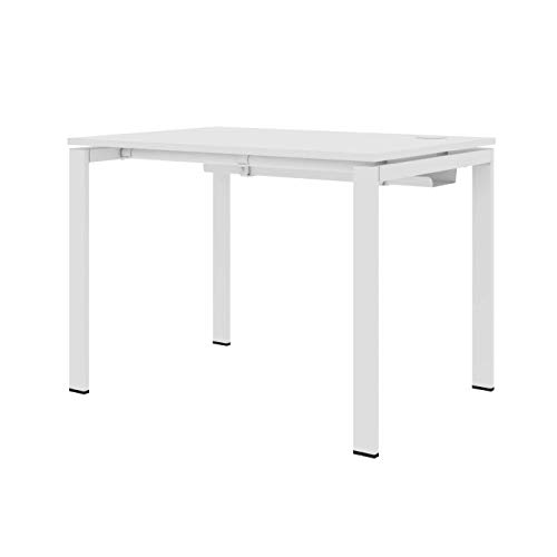LEVIRA Schreibtisch, Computertisch, Tisch ON-Office, 100 x 70 x 72 - Weiß