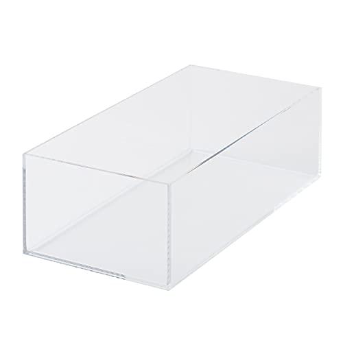 無印良品 重なるアクリルボックス・中 約幅25.2×奥行12.6×高8cm 44089576 透明