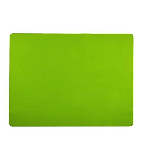 AXGL 40 * 30 cm Matada para Hornear de Silicona Non Stick Pan Liner Placemat Mesa Protector Cocina Pastelería Cocina Hornear Cakeware Mat para niños 525 (Color : Green)