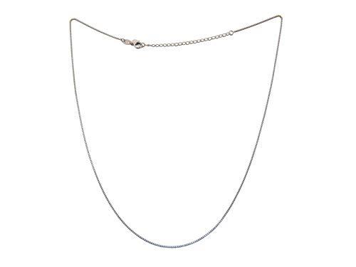 Nature Rebel Damen Halskette 925 Silber ohne Anhänger Länge verstellbar Venezianer Box Kette