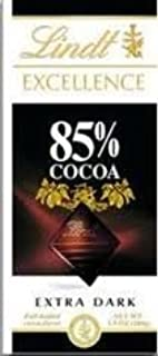 Lindt Excellence Bar (Dark Chocolate 85% Cocoa) - Pack of 4