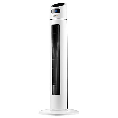 Gridinlux | Ventilador de Torre 88 cm Homely Tower Lux ADVANCED | 45W | 3 Velocidades | Mando Control | Silencioso | Oscilación 75º