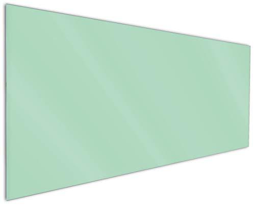 Wallario Küchenrückwand aus Glas, in Premium Qualität, Motiv: Pastellgrün | Spritzschutz | abwischbar | pflegeleicht