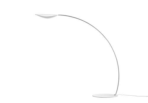 Diphy Kunststoff Aluminium Stehleuchte in Weiß,Transparent weiß | Handgefertigt in Italien | Stehlampe Modern Design Dimmbar | Lampe LED