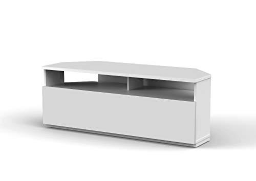 Sonorous- Meuble TV d'angle. Ref. TRD-100 Wh (100 cm de Largeur). Blanc