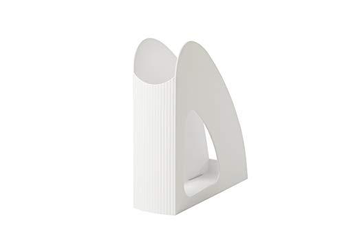 HAN Re-Loop 16218-912 - Revistero (6 unidades, 100% reciclable), diseño moderno y joven, para documentos DIN A4/C4, color blanco