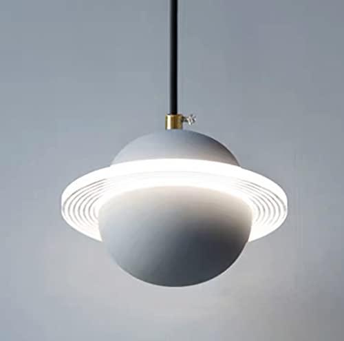 LYEJFF Lámpara Colgante Individual, araña Planeta nórdica Luz de Techo de Triple de Tres Colores para Dormitorio Comedor Restaurante Sala de Estar