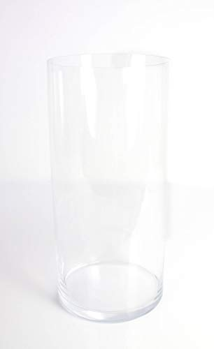 transparent 40 cm /Ø 19 cm INNA Glas Vase tube // Grand vase transparent Vase en verre cylindrique SANSA