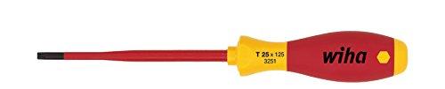 Wiha Schraubendreher SoftFinish® electric slimFix TORX® (36536) T10 x 100 mm für tiefliegende Schrauben, ergonomischer Griff für kraftvolles Drehen, Allrounder für Elektriker, VDE-geprüft, stückgeprüft
