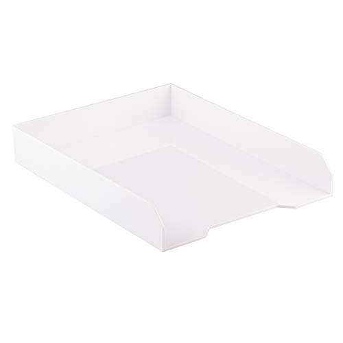 JAM PAPER Vaschetta Portacorrispondenze - Bianco - Vaschetta per Documenti da Scrivania, Lettere e Organizzatore di Documenti - Venduto Singolarmente
