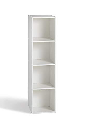 Alsapan 94931 Compo 14 - Estantería con 4 estantes (31 x 29,5 x 122,3 cm), Color Blanco