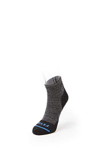 FITS Light Hiker - Quarter Socken: Wandersocken für Camping, Wanderungen & Outdoor - Schwarz - XX-Large*