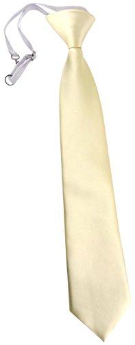 TigerTie TigerTie Security Sicherheits Krawatte in beige creme Uni einfarbig - vorgebunden Gummizug
