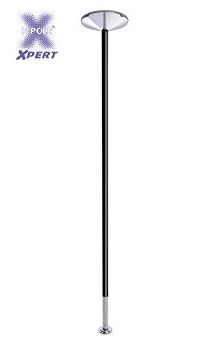 X-Pole Xpert 45mm verniciato a polvere nero Spinning Pole Dance–Asta di La danza dei professionisti