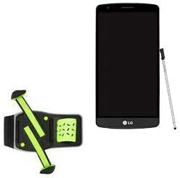 Holster for LG G4 (Holster by BoxWave) - FlexSport Armband, Adjustable Armband for Workout and Running for LG G4 - Stark Green