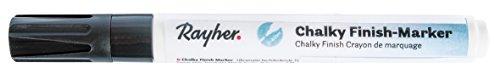 Rayher Hobby 35017572 Chalky Finish Marker, anthrazit, mit Ventil, ultramatte Acryltinte, hochdeckend, hochwertig, mit hohem Kreideanteil, der ultramatte Chalky-Kreidelook jetzt auch als Marker