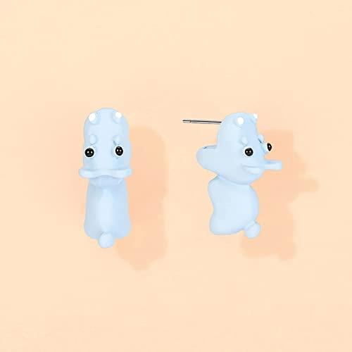 Simpatici orecchini a bottone mordaci, orecchino animale carino in metallo 3D, mini ornamento animale carino, orecchini a bottone 3D adorabili animali dei cartoni animati, orecchini a bottone serie a