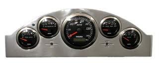 Dolphin Gauges Compatible with 1957 Ford Car 5 GPS Gauge Dash Cluster Panel Set Black