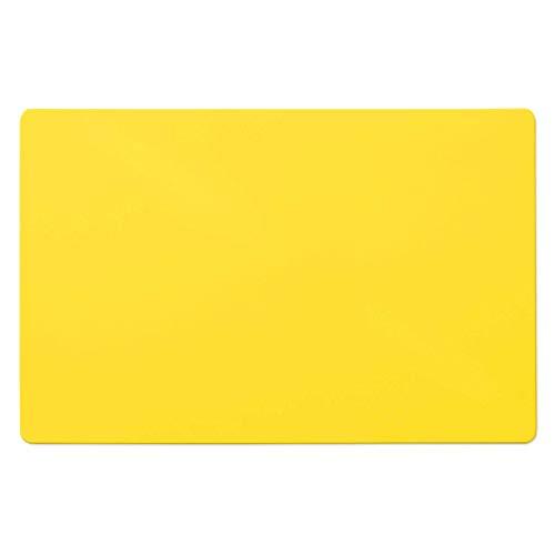 Trendige Schreibtischunterlage   Gelb   abwischbar   PVC-frei   65 x 50 cm