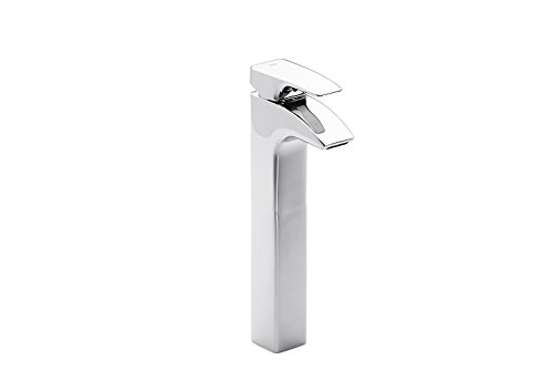 Roca Thesis - grifo monomando para lavabo con caño alto y desagüe automático . Griferías hidrosanitarias Monomando. Ref. A5A4450C00