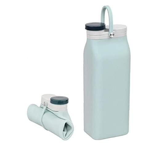 TOSSPER Plegable De Silicona Bebida Botella De Agua Caldera Plegable De La Copa De Viajes Bebida Deportiva 600ml Botella De Agua
