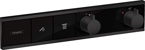 hansgrohe 15380670 RainSelect - Termostato para 2 consumidores, color negro mate