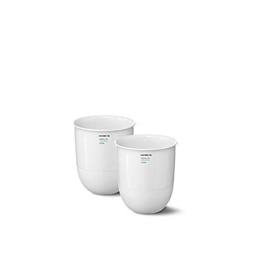 KPM Berlin LAB Becher Duo-Set Porzellan Becher-Set - Porzellan-Becher - Kaffee-Becher - die perfekten Becher für kalte und heiße Getränke - Größe 1