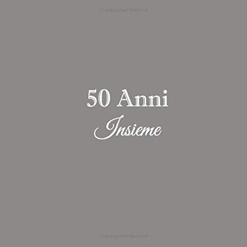 50 Anni Insieme: Libro degli ospiti 50 Anni Insieme anniversario di matrimonio guestbook decorazioni...