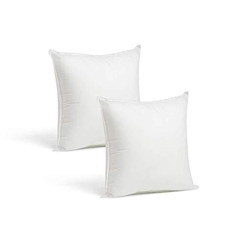 Kingnet 2 Rellenos Cojines Sofa hipoalergénicas para Funda Cojines Decoracion y para Almohadas de Cama 40x40cm