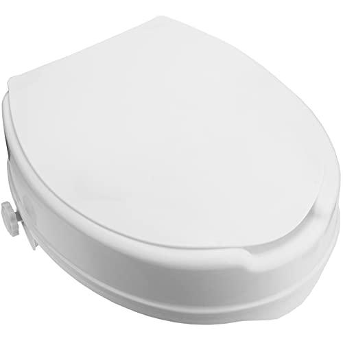 PrimeMatik - Rehausseur de Toilettes pour WC avec Couvercle pour Adultes