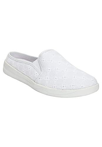 Comfortview Women's Wide Width The Camellia Sneaker - 7 WW, White