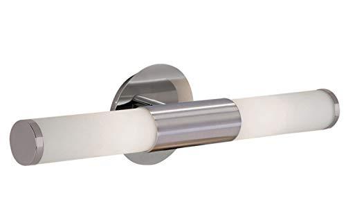 EGLO 87222 A++ to E, Wandleuchte, Stahl, E14, Nickel-matt/Weiß, 46 x 11 x 11 cm