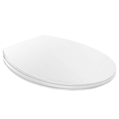 HONBOO WC Sitz mit Absenkautomatik, O-Form WC Deckel Klobrille, Klodeckel, Toilettensitz mit langsamer Absenkung und Soft-Close Funktion