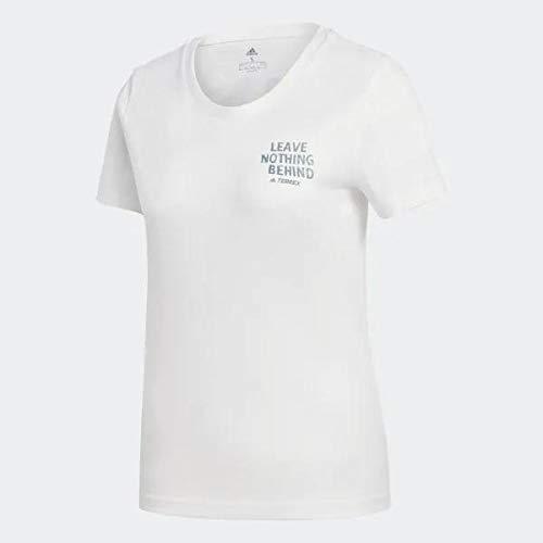 adidas W LBN GFX tee Camiseta, Mujer, Nondye Esmtec, L